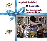Angelzubehörset Raubfisch (6) 24 Einzelteile Anglergeschenk...
