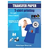 Papel transfer para hacer camisetas. Impresión en camiseta o tela clara. A4 x 20 hojas