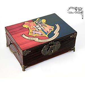 Exklusive Schatulle, Holzkästchen, Jewelry Box, Box,Schachteln, Kästchen, wood, für schmuck wood, Harry Potter Hogwarts