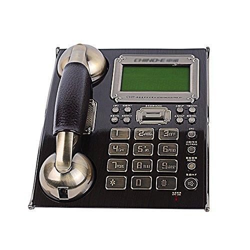 Telefono con filo con blocco chiamate, telefono con cavo grande e rumoroso - 214 * 176 * 88mm