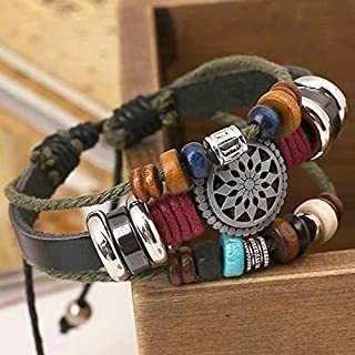 LSAltd Vintage Böhmen Wind Perlen Multilayer handgewebte Armband
