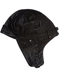 Flieger Bonnet aviateur en cuir Noir