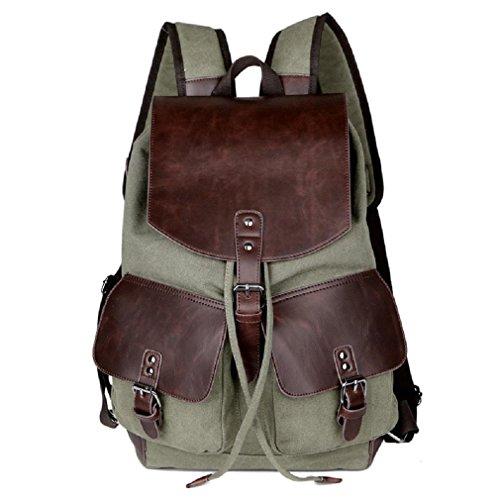 GAOJIAN Canvas Rucksäcke Retro Doppel Schulter Rucksack Outdoor Sporttaschen Männlich Und Weibliche Schultasche Breite 31Cm High 43 Cm Laptop Rucksack , d