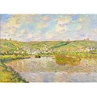 Cuadro sobre lienzo 100 x 70 cm: Late Afternoon in Vetheuil de Claude Monet / Bridgeman Images - cuadro terminado, cuadro sobre bastidor, lámina terminada sobre lienzo auténtico, impresión en lienz...