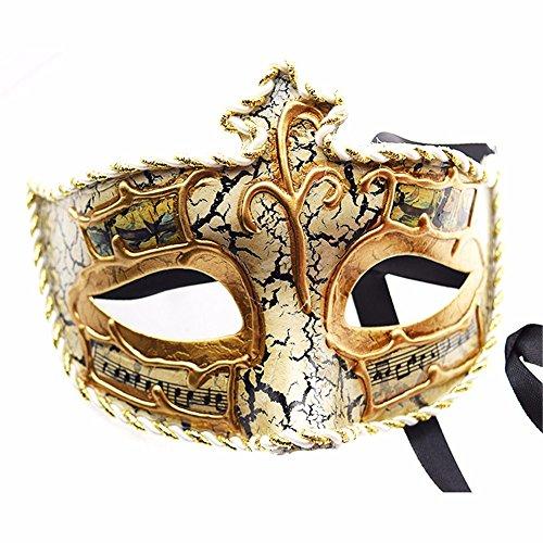 ONE-K Mask Spitze Karnevalsparty Ball Maske Handgemachte Maske Halbe Gesicht, ()
