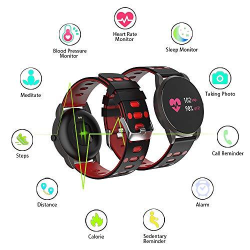 Imagen de reloj inteligente, smartwatch con pulsómetro pulsera actividad blood pressure multifuncion color monitor reloj deportivo monitor de sueño hombre mujer niños para android y ios alternativa