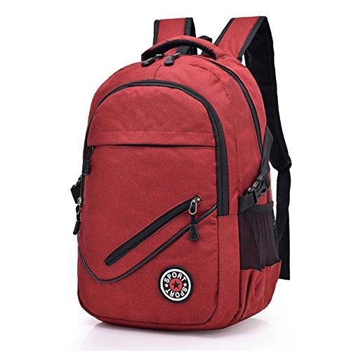 Daeou Laptoptasche Damen Doppelte Schultertasche Tasche Kursteilnehmercomputer Tasche Große Kapazität (Stich-laptop-tasche)
