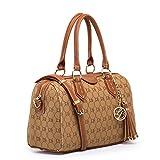 SALE (GetThatBag) Lola Benson® Demi Damen Monogramm Barrel Tasche Bowlingtaschen Schultertasche