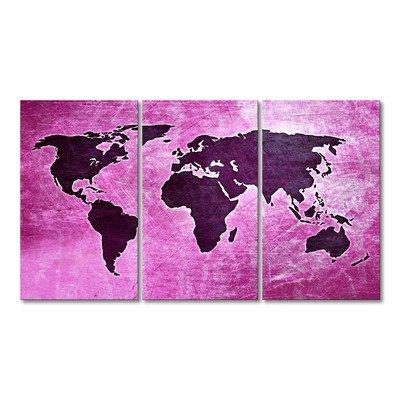 WandbilderXXL® Gedrucktes Leinwandbild Weltkarte Nr.4 180x100cm - in 6 verschiedenen Größen. Fertig gespannt auf Holzkeilrahmen. Günstige Leinwanddrucke für Kinderzimmer Schlafzimmer.