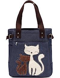 KAUKKO Donne Canvas Handbag Shopping bag