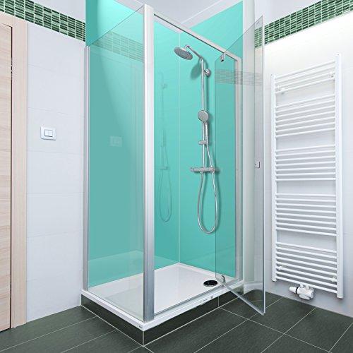 Aqua farbige Acryl Dusche Panel. Einzigartige Hard Gloss Coated lang Life Finish. Einfach zu reinigen. 2000mm x alle Duschtasse breiten, acryl, aqua, 1000mm X 2050mm (Aqua-panel)