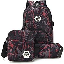 TTD graffiti mochila, tres conjunto de mochila de la escuela bolsa de peso ligero con