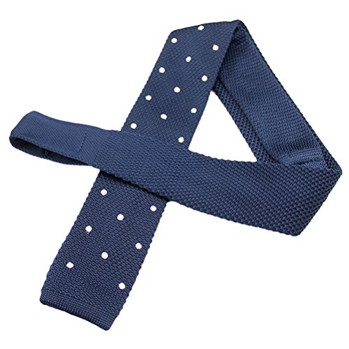 Zhhlinyuan Corbata Hombre roja blanca Multicolores Moda Clasica Knit Ties Narrow Necktie Square Flat End Tie for Men for Husband - Multi Patterned Elastic Anti-Wrinkle
