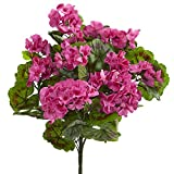 Best Nearly Natural Indoor Plants - Nearly Natural Geranium Bush, Set of 3 (Indoor/Outdoor) Review