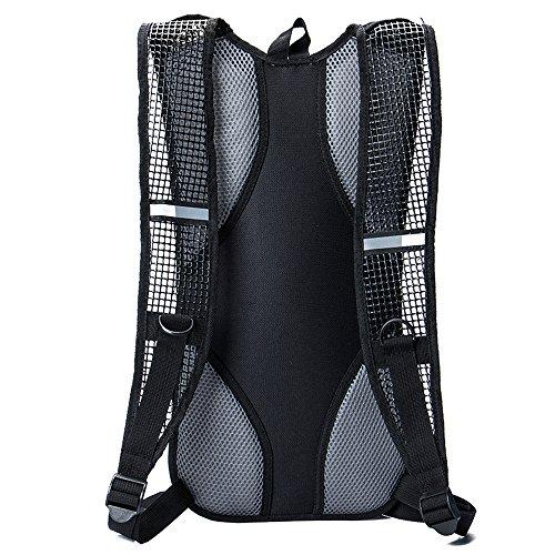 Erasky Trinkrucksack - Hydration Pack mit 2L Trinkblase zum Joggen, Wandern, Radfahren, Camping und Bergsteigen und für alle anderen Outdoor red