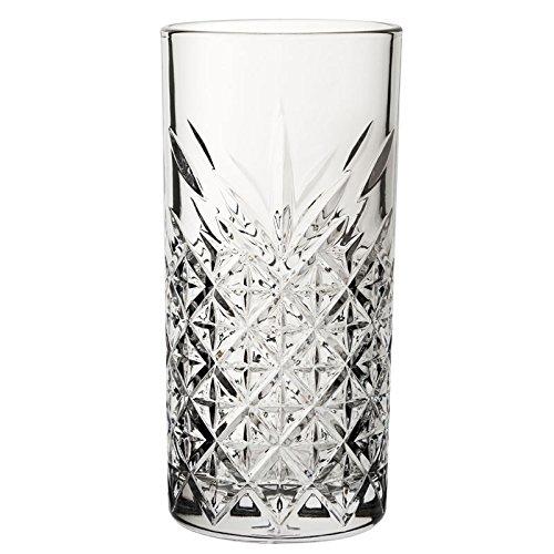 Utopía p52800Timeless Vintage largo bebida cristal, 15,75oz, 45