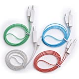 4pcs Glow in the Dark Light-up LED USB Data Sync Charger Cable Charging Cord for Iphone 5 5s 6 6 ...