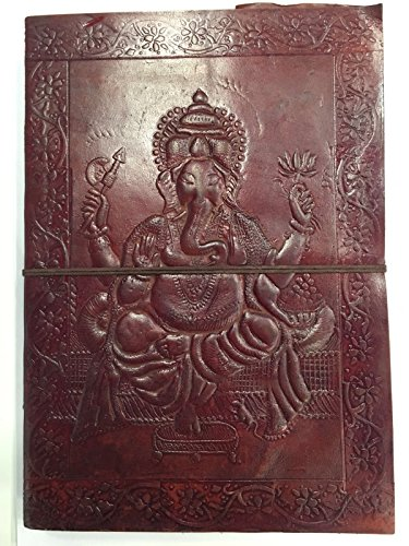 Zap Impex ® B5 Leder Ganesha förmigen dunkelbraun Tagebuch Sketch Notebook Sammelalbum...