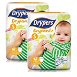 #5: Drypers Drypantz Small Size Diapers (Pack of 2, 48 Counts per Pack)