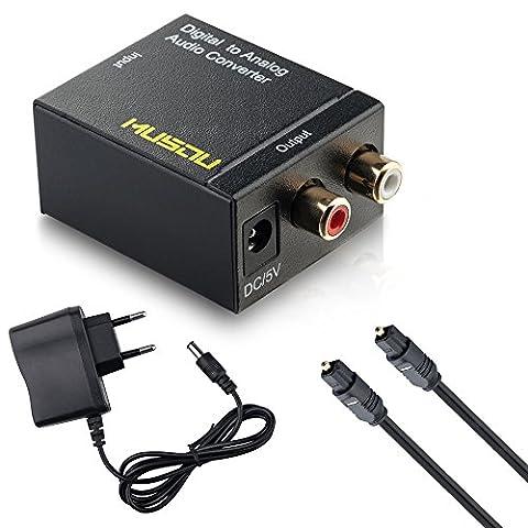 Audio Konverter,Musou Digital Analog Converter Adapter,Toslink Coax zu RCA Cinch Wandler with Optisches