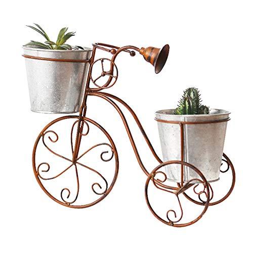 Yzpyd Estantes para Plantas 2 Grados Balcón Titular de Maceta Jardín Soporte de Plantas pequeñas Hierro Soporte de exhibición de Bicicletas Plantas suculentas Estante Interior para el hogar