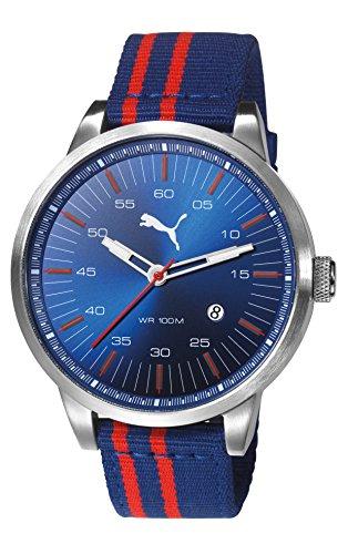 PUMA - PU103641007 - Montre Mixte - Quartz - Analogique - Bracelet Nylon Bleu