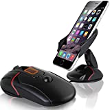 Tempo Car Phone Holder Adjustable Scalable Universal Dashboard Air Vent Car Mount with Strong Sticky Gel Pad for Smartphone(Deformation Mouse-Black)