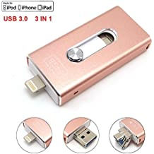 Tipmant USB 3.0 Flash Drive Para Iphone Tarjeta de Memoria de 16GB IOS Memoria USB Para iPhone 5s / iPhone 6 / iPhone 6 Plus / iPhone 7 / iPhone 7 Plus / iPad / Mac (16GB)