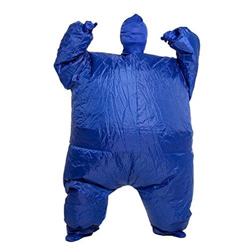 NiSeng Erwachsene Fat Suit Aufblasbare Kostüm Halloween Anzug Karneval Abendkleid Ausstattungs (Suit Halloween Fat)