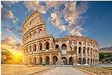 ZZXSY Jouets Bois Puzzle 1000 Pieces Le Colisée Ou Amphithéâtre Flavien (Amphitheatrum Flavium Ou Colosseo) Rome Italie Puzzle Jouet en Bois Cadeau Unique Décoration Intérieure