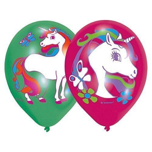 6 Luftballons * REGENBOGEN EINHORN *