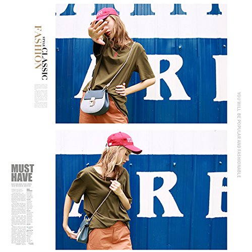 Yoome Punk Style U-Ring Borsa Flap Borsa Chain Bag Crossbody Borsa Envelope Frizione Mini Borse Per Ragazze - Blu Crema