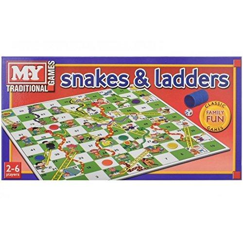 Serpientes y Escaleras juego de mesa tradicional Juego de los niños