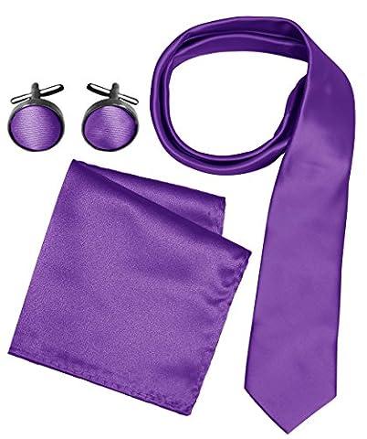 Peach Couture - Boite à cravate - Homme - violet - Taille unique
