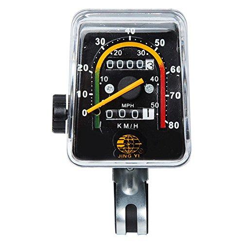 nobrand rücksetzbaren Fahrrad Analog Kilometerzähler Geschwindigkeitsmesser Classic Style Cycling fahrleistung (KM) Geschwindigkeit (KM/H)