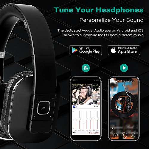 August EP650 – Bluetooth NFC Kopfhörer mit aptX Technologie, schwarz - 2