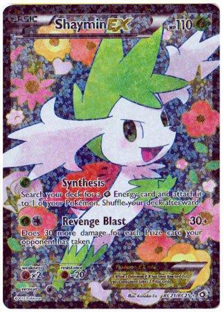 Pokemon-shaymin-ex (RC21/RC25)-Legendary Treasures