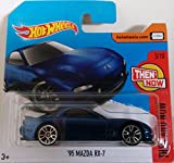 2017 Hot Wheels Then and Now '95 Mazda RX-7 Blue 336/365 (Short Card)