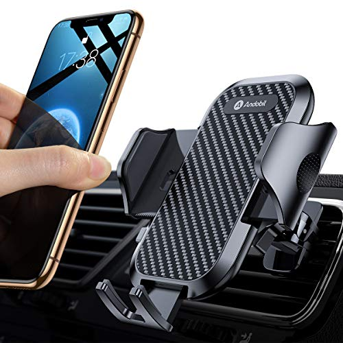 andobil Handyhalter fürs Auto Handyhalterung 2019 Upgrade Lüftung Halterung mit 2 Lüftungsclips Universale smartphone halterung kfz 360° Drehbar für iPhoneX Xr Samsung Galaxy Note 10 S10 Huawei LG Usw (Handy-kfz-halterung Beste)