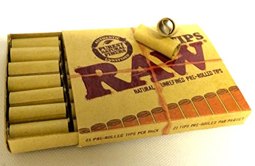 RAW Prerolled Tips (vorgerollt) - 1 Schachtel mit 21 Tips