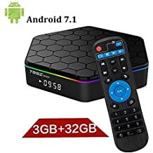 T95Z+ Plus Android 7.1 TV Boxcon 3GB RAM / 32 GB ROM Octa-Core 64 bits Media Player Resolución 4K 2.4/5 Ghz Dual WiFi 1000M LAN Bluetooth 4.0 Play Store