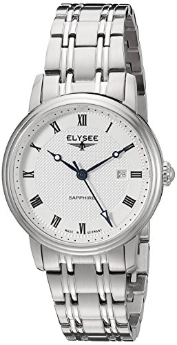 ELYSEE Women's Monumentum 31mm Steel Bracelet & Case Sapphire Crystal Quartz Silver-Tone Dial Watch 77008