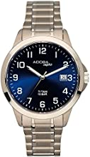 Comprar Reloj De Hombre Reloj de pulsera cuarzo reloj analógico reloj Titanio con indicador de fecha Adora Saphir 29025, variante: 02