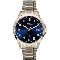 Herrenuhr Armbanduhr Quarzuhr Analoguhr Titan mit Datumsanzeige Adora Saphir 29025, Variante:02