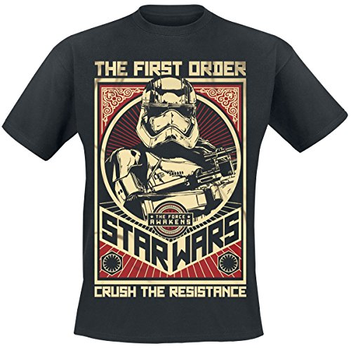 Star Wars Episode 7 - Das Erwachen der Macht - Crush The Resistance Stormtrooper T-Shirt Schwarz Schwarz