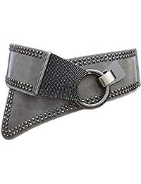 Oyccen Mujeres Punk Remache Cinturón Elástico Cinturones Damas Pretina  Vestido Decoración 731c4e8fcfa2