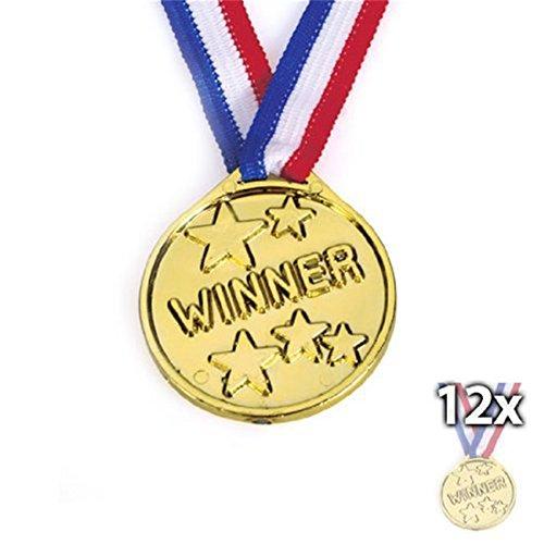 12 x olympische Goldmedaille mit Aufschrift