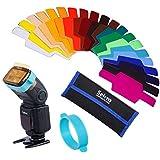 Selens SE-CG20 Universal Flash Gel Filtro de Iluminación Lighting Filter - Set de 20 Filtros Kits de Combinación para Cámara Camera Flashlight