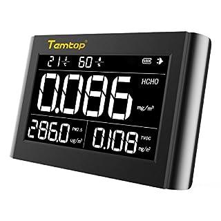 Luftqualität Messgerät-Therm M1000 Luftqualitätsmonitor für PM2.5 HCHO TVOC Formaldehyd Temperatur Luftfeuchtigkeit Indoor Detektor Große LCD-Anzeige