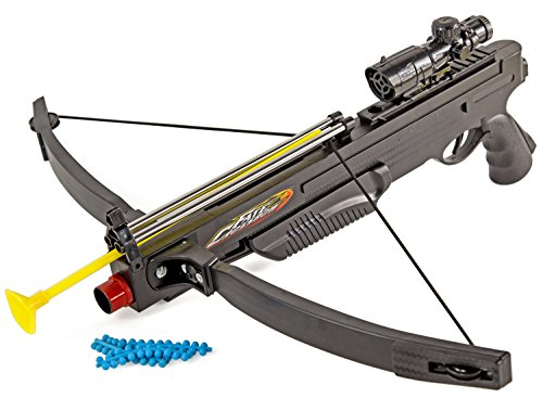 Soft-Air Armbrust Gewehr 50cm Federdruck ABS bis 0.5 Joule Kaliber 6mm Munition Air-Soft Spielzeug-Gewehr Kinder-Spielzeug ab 14 Jahren Pfeile Schwarz Softair-Waffe Softair-Gewehr